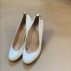 Diesel white high heels, size 7.5